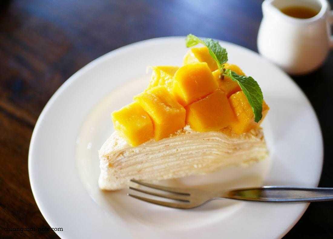 【note】マンゴーミルクレープとクレープのマンゴー添えの埋められない差