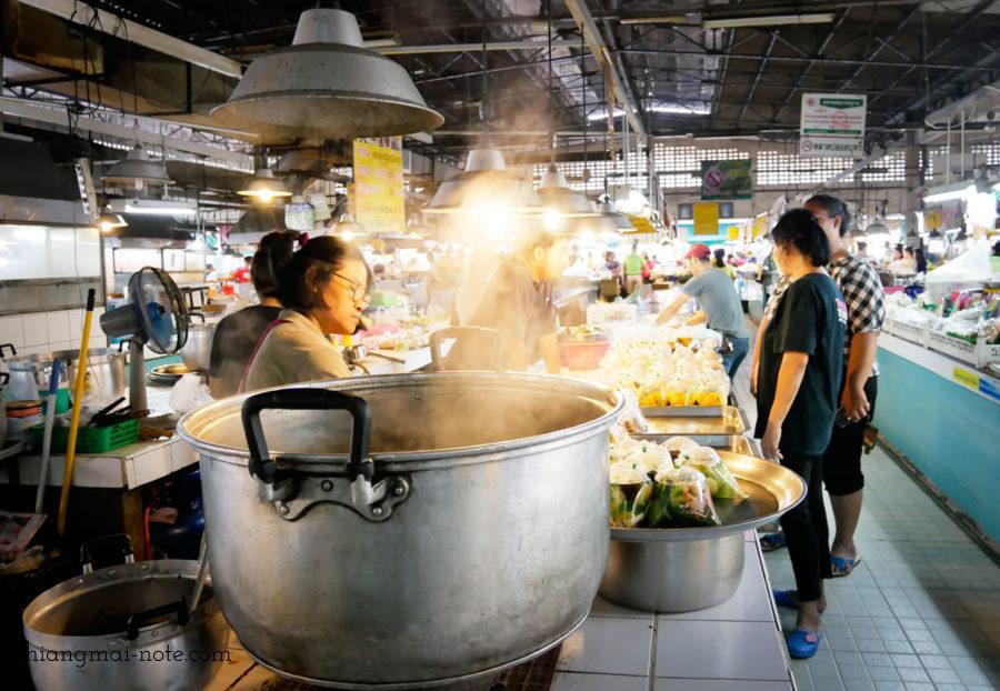 湯気の向こうのコミュニケーション、タニン市場、お惣菜