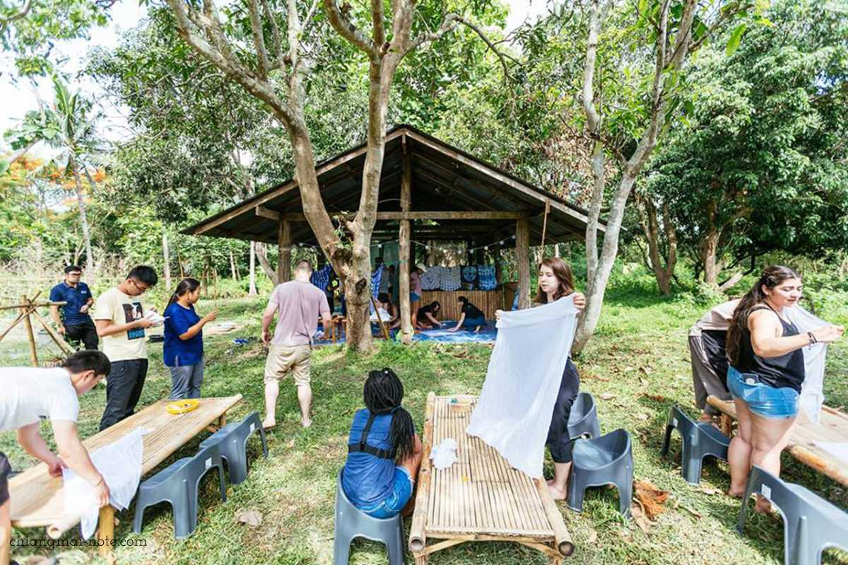 草木染&藍染・手織り体験ができるワークショップ《コットンファーム》