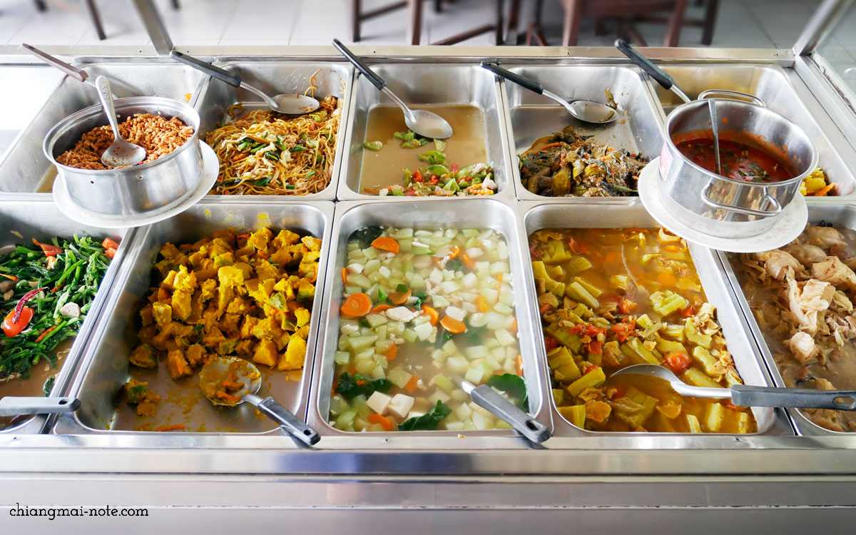 老舗ベジ食堂でカラフルな野菜ごはんを美味しく安く食べよう|JAY OMBOON 佛有緑素採館